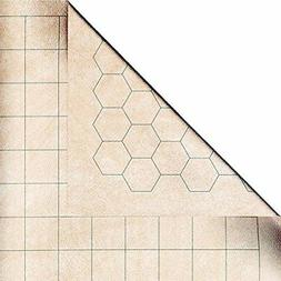 "Chessex Battlemat - RPG Reversible Vinyl Mat 26"" x 23.5"" wit"