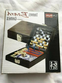 Mini 6-in-1 Travel Board Games Set, Never Been Used