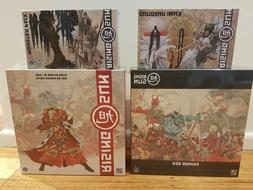 NEW RISING SUN Board Game - FULL Daimyo Pledge Box + Kicksta