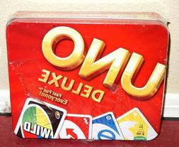 *New* UNO Deluxe Card Game Collector's Tin Mattel 2012