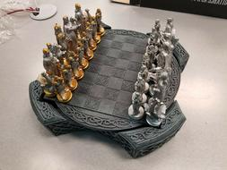 NEW VIKING CHESS SET WITH 32 POLYRESIN PIECES AND 1 POLYRESI