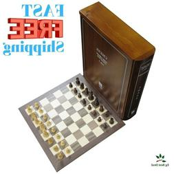 Nice Chess Set Game For Adults Kids Small Vintage Wood Piece