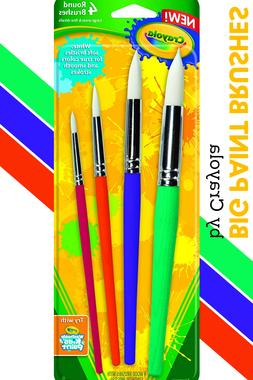 Crayola Paint Brushes 4 Round Paintbrush For Kids Games Work