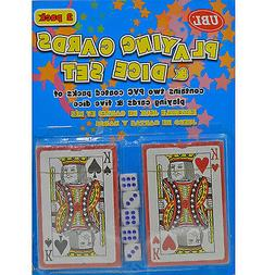 Playing Cards With 5 Dice Set Blackjack Poker Games Party Pl