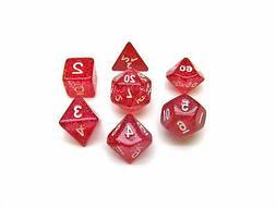 Polyhedral 7-Die Glitter Koplow Games Dice Set - Purple