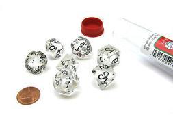 Polyhedral 7-Die Transparent Koplow Games Dice Set - Clear