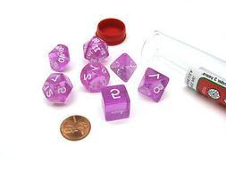 Polyhedral 7-Die Transparent Koplow Games Dice Set - Orchid