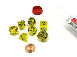 Polyhedral 7-Die Transparent Koplow Games Dice Set - Yellow