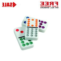 Professional Dominoes Game Set Double 12 Color Dot Domino Ti