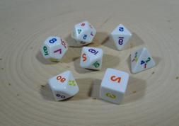 Koplow Games Rainbow Polyhedral Dice, 7 Piece Set of 16mm Ga