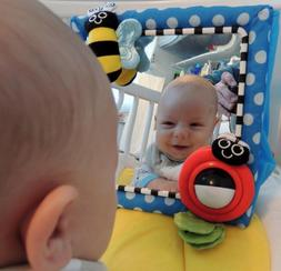 Sassy Floor Mirror Blue Baby Toy Play Toddler Trureflection