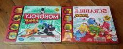 Hasbro Scrabble Junior and Monopoly Junior for Kids Board Ga