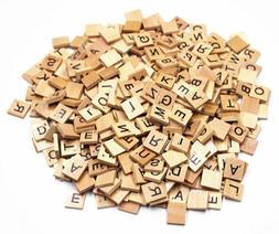 Scrabble Tiles Letter Set Vintage Wood Letters Lot Wooden Ti