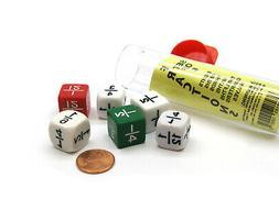 Set of 6 Math Dice: Eights, Fifths, Thirds, Sixths, Twelfths