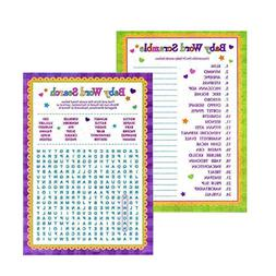 Adorox Baby Shower Word Search & Word Scramble games for Boy