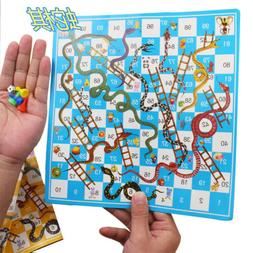 Snake and Ladder Board Game Portable Flight Chess Set Family