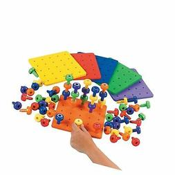 Fun Express Stack It Peg Game with Board Occupational Therap