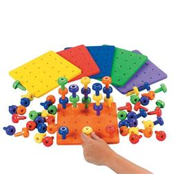Fun Express Stack It Peg Game with Board Occupational  for A