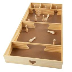 Tabletop or Floor Wooden Skittles Game Portable Pinewood Fam