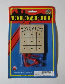 Tic Tac Toe Classic Novelty Peg Board Game Kid Party Favor S