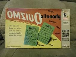 VTG 1956 Milton Bradley Phonetic Quizmo Educational Lotto Bi