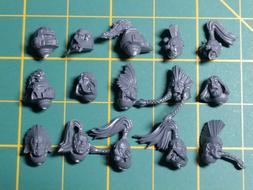 Games Workshop Warhammer 40K Space Wolves Heads X 10
