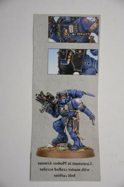 Warhammer Primaris Space Marines Lieutenant in Phobos Armour