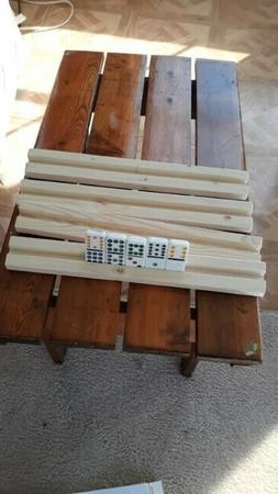 "Wooden hand made  Domino Holder Tray, Set of 2 lenth 13"" wi"